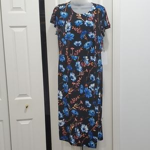 NWT Ivanka Trump floral midi dress size L